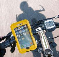 360 Rotación Holder impermeable para bicicleta manillar Móvil caso de la cubierta de la bolsa del Monte para Iphone 6 más