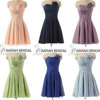 Cheap Short Blush Sage Lilac Beach Bridesmaid Dresses Maid o...