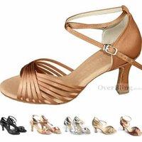 Wholesale- Hot Sale Heel Leather Salsa Shoes Women' s Shoe...