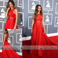 Custom Made 2014 Rihanna Grammys Red Carpet Celebrity Dresse...