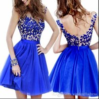 Best selling jewel lace a line mini short homecoming dresses...