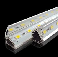 SMD 5730 привело бар свет 12 вольт свет водить 36LEDs / 0,5М 72LEDs / 1M 144LEDs / 2М привело жесткий полоску с V-образный алюминиевый канал Теплый / холодный / Pure White