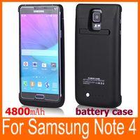 Внешний корпус батареи резервного копирования 4800mAh для Samsung Galaxy Note 4 N9100 Черный Белый большая емкость случае мощность