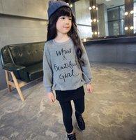 Korean Autumn Winter Letter Print Girl Long Sleeve T- shirt F...