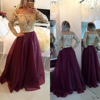 Vintage Long Sleeves Cheap Evening Dresses Sexy A Line Illus...