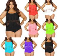 2015 Newest Plus Size Swimwear for Women Fringe High Waist T...