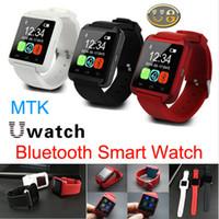 U8 Bluetooth Смарт часы носимого телефона Mate U Наручные часы для iPhone 4S 5S 6 Samsung S5 Примечание 2 3 HTC Android IOS смартфонов