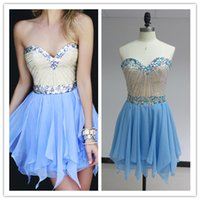 2015 Luxury Sweetheart Homecoming Dresses with Rhinestone Cr...