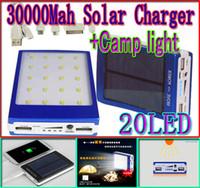 NEW 30000mah solar camping light charger 20 led 30000 mah po...
