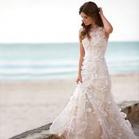 Wholesale Peach Mermaid Wedding Dresses - Buy Cheap Peach Mermaid ...
