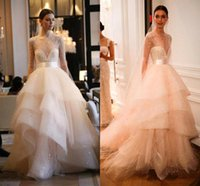 2016 New Vintage A Line Wedding Dresses Runway Romantic Bead...