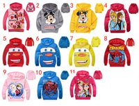 11 Design Free DHL Boy Girl Frozen spiderman Minnie Hoodies ...