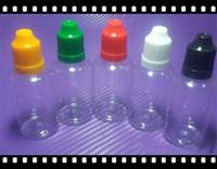 Etui transparent PET E cig 5ml 10ml 15ml 20ml 30ml 50ml Bouteilles à gouttelettes liquides Liquid E à l'épreuve des enfants bestvaporseller
