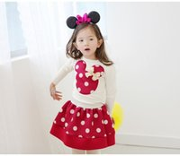 Being Hot! Dots Minnie Mouse Girls Long Sleeve Dress Kids Po...