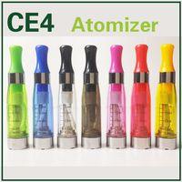 Ce4 Clearomizer Vapor ce4 Cartomizer Ego 1,6 ml ce4 atomiseur longue mèche pointe goutte à goutte coloré pour 510 série ego Evod batteries ce5 cartomizer