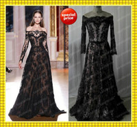 Zuhair Murad Off Shoulder Long Sleeve Evening Dresses Stylis...