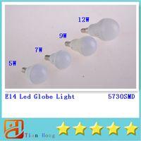 Led Globe Light E14 5W 7W 9W 12W 5730SMD LEDS Led Light Bubb...