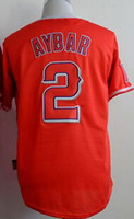 2015 Angels #2 Aybar Red White Stitched Jersey, Customized di...