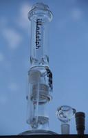 Nouveau Grande taille avec des clous en céramique illadelph verre bong huile plateaux lourds wo fonctionnement birdcage percolateur et Honeycomb tuyaux d'eau 19mm joint