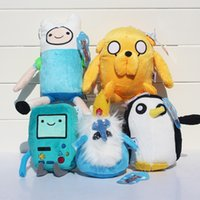 5 styles Adventure time Plush Toys Jake Finn Beemo BMO Pengu...