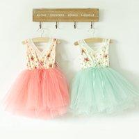 baby girl kids vintage dress lace dress flower tutu dress fl...