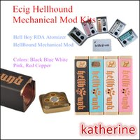 Hellhound Mod Стартовые наборы для Hell Boy RDA Форсунка 510 Тема Hellhound Ад Boy Single 18650 Mod E Cig Электронная сигарета Подарочная коробка