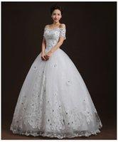 New Design Bateau Bride Wedding Dress Ball Gown Princess bri...