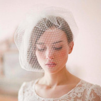 2017 New Arrival Short Wedding Face veils Short Wedding Brid...