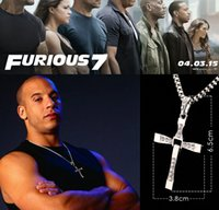 Movie The Fast And Furious Mens Rhinestone Cross Crystal Pen...