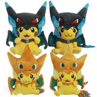 Poke plush Mega Pikachu Cosplay X Charizard Brinquedo Plush ...