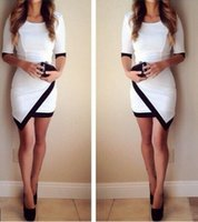 New Sexy Women White Middle Sleeves Prom Ball Cocktail Party...