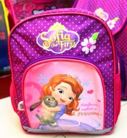HOT SALE!! Middle size Sofia The First Kids School Bag, Stude...