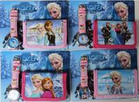 EMS DHL 200pcs Frozen Anna Elsa Sets Watch and Wallet Purse ...