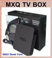 Android tv box MX MXQ TV BOX Amlogic S805 Quad Core Android 4.4.2 Video Stream H.265 1GB 8GB Chaînes TV Kodi 15.2 Media Player dhl OTH035