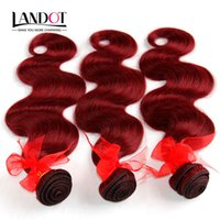 Burgundy Brazilian Body Wave Virgin Human Hair Weave Bundles...