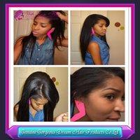 Beatiful straight Indian vrigin hair human hair wigs glueles...
