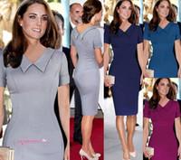 2015 весной и летом новые моды для женщин Slim с коротким рукавом V-образным вырезом тонкий горячий продавая Простой карандаш платье платье Work OXL141202