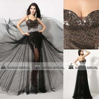 2015 Black Prom Dresses Sexy Spaghetti Long Prom Gowns Glitz...