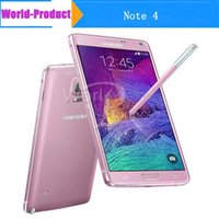 2015 Remis à neuf original Samsung Galaxy Note 4 N9100 5.7 '' Quad core Android 4.4 RAM 3 Go 16GB 16MP Appareil photo Téléphone portable 002866