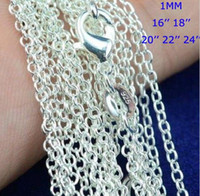 """100pcs  lot 925 Sterling Silver plating Rolo """" O """"..."""