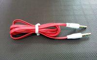 Plat de Nouilles de 3,5 mm à 3,5 mm Câble Audio Coloré Mâle Stéréo de Voiture AUX Étendu Audio Auxiliaire Cordon pour iPhone Samsung MP3 MP4 pas Cher US05