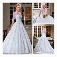 2015 vestidos de casamento vestido de bola with Lace Appliqu...