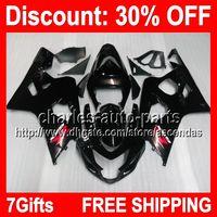 7gifts ALL Black Full Fairing Kit For SUZUKI GSX- R750 04- 05 ...