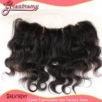 2*13 Virgin Brazilian Body Wave Lace Frontal Hairpieces Unpr...