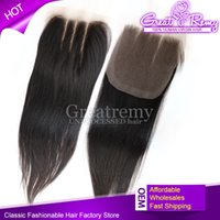 3 Way Part Lace Top Closure(4x4) Hairpieces Brazilian Virgin...