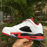 5 Low FireRed Basketball Shoes real version Men Sports Shoes...
