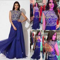 Vestidos Prom Dresses 2015 Robe De Soiree High Neck Crystal ...