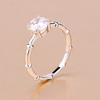 Fashion Silver Plated Band Rings Vintage Crystal Artificial ...