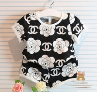 2015 Children Girls Summer Clothing Kids Clothes Flower Doub...
