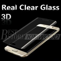 Real Clear Trempé Note verre 7 / S7 Bord / S7 / S6 Bord / S6 bord plus complet couverture 3D Curved Side Screen Protector 0.2MM